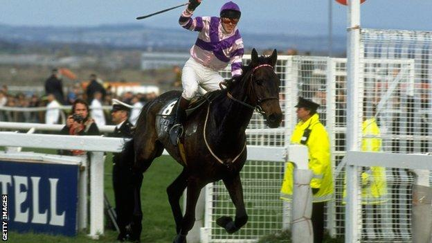Carl Llewellyn won the 1992 Grand National on Party Politics