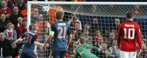 Bastian Schweinsteiger crashes home Bayern's equaliser from Mario Mandzukic's knockdown