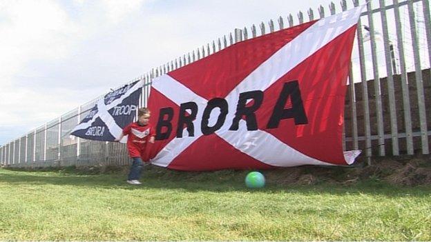 Brora Rangers flag