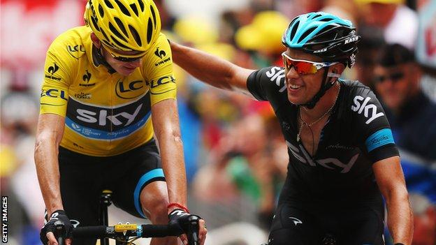 Richie Porte and Chris Froome
