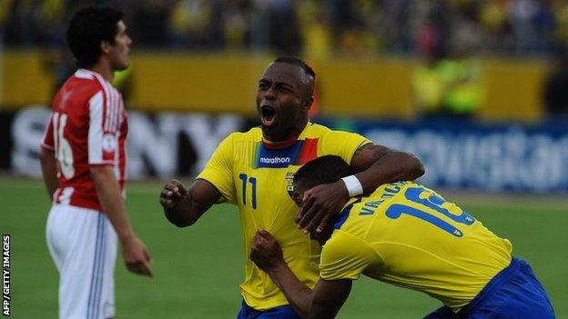 Antonio Valencia and Christian Benitez