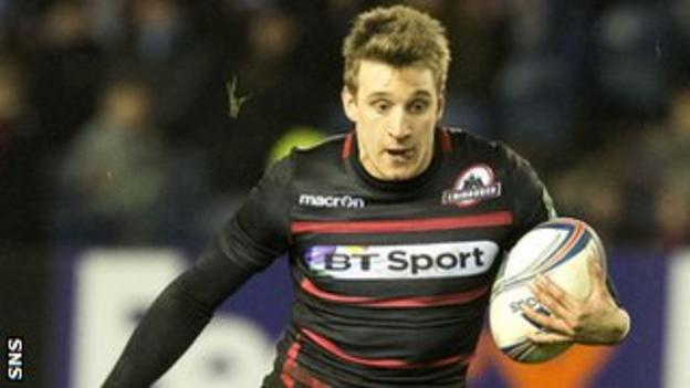 Edinburgh full-back Tom Brown