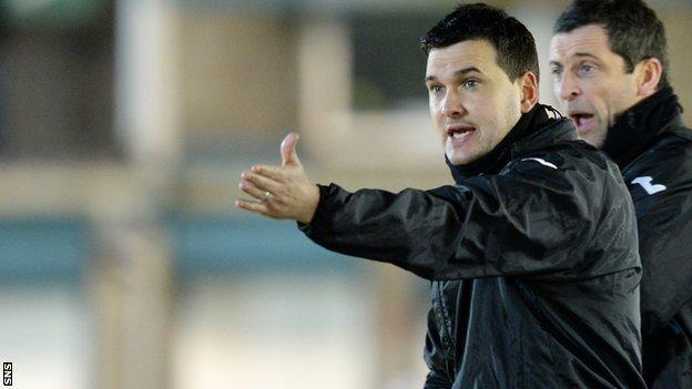 Dumbarton manager Ian Murray
