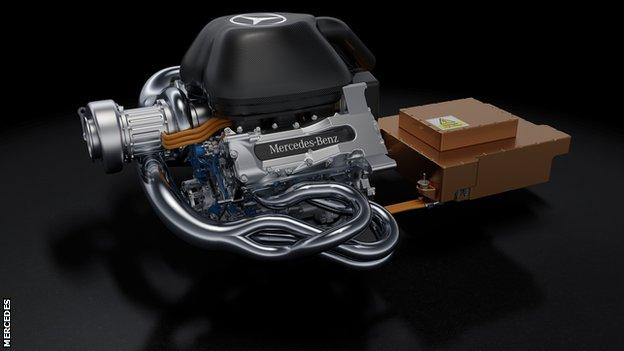 Mercedes 2014 V6 engine
