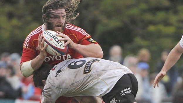 Dave Ryan playing for Munster