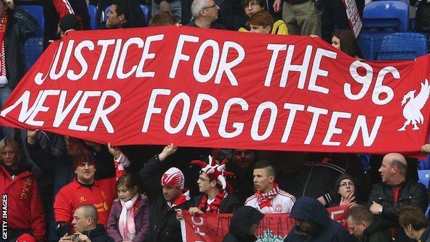 Liverpool Hillsborough banner