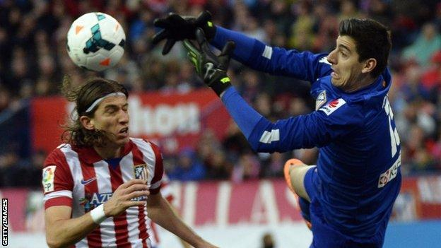 Thibaut Courtois keeper Chelsea on loan Atletico Madrid