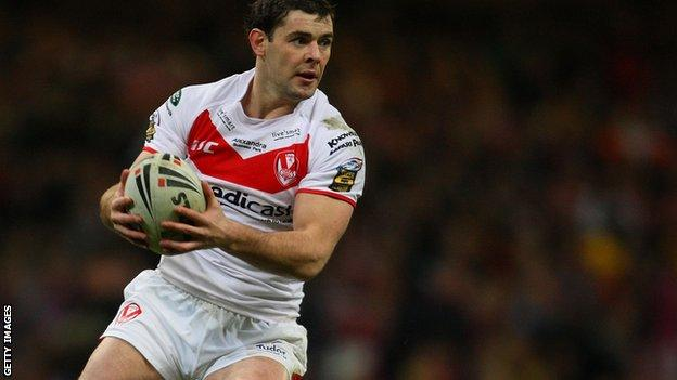 St Helens full back Paul Wellens