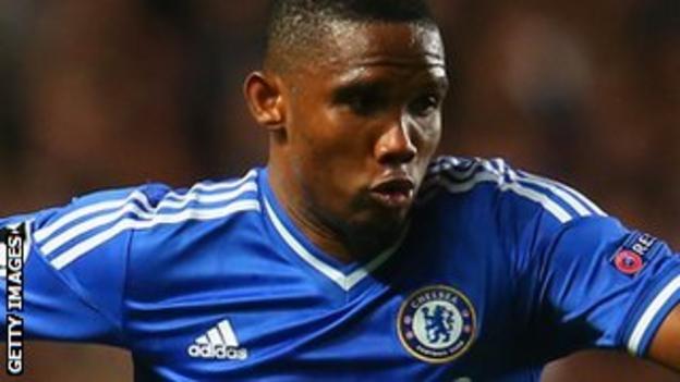 Chelsea striker Samuel Eto'o