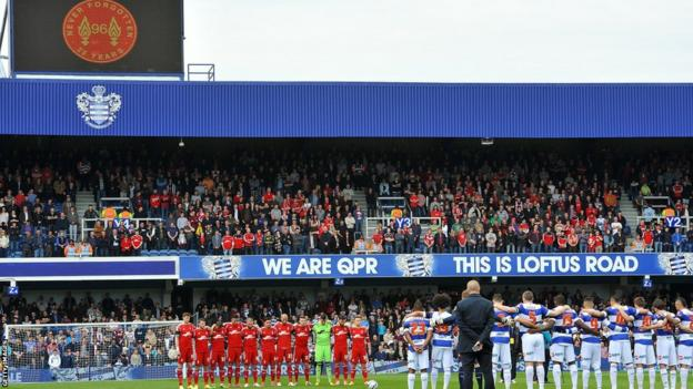 Queens Park Rangers played Nottingham Forest in the Championship at Loftus Road