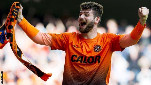 Nadir Ciftci scored Dundee United's third goal at Ibrox