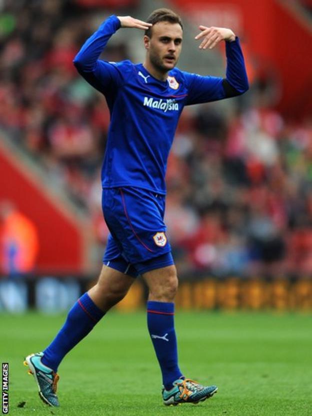 Juan Cala celebrates his winning goal in their 1-0 win against Southampton