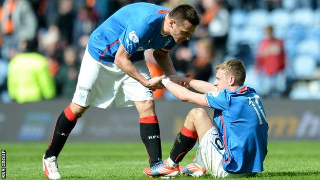 Rangers ran out of ideas in the second half at Ibrox