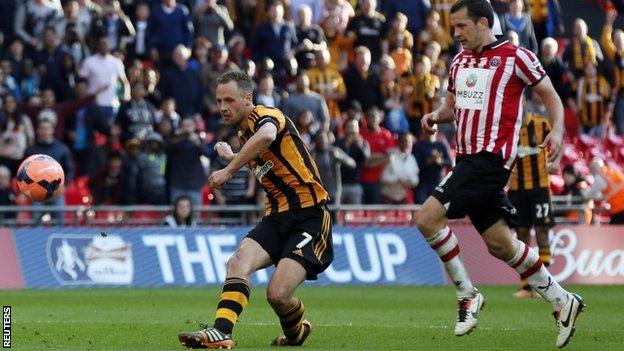 David Meyler's injury-time goal seals Hull City's place in the FA Cup final.