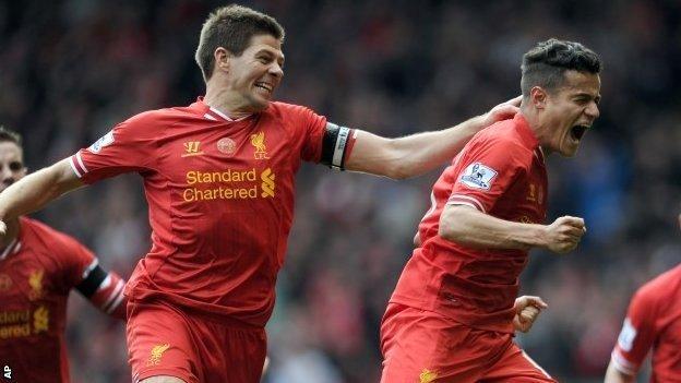 Steven Gerrard and Coutinho