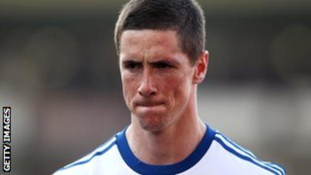 Fernando Torres has only scored four Premier League goals for Chelsea this season