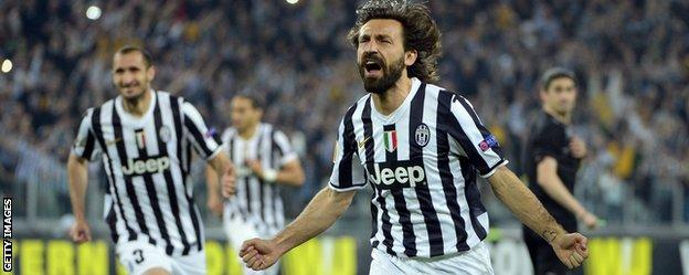 Andrea Pirlo celebrates