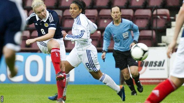Kim Little in action for Scotland