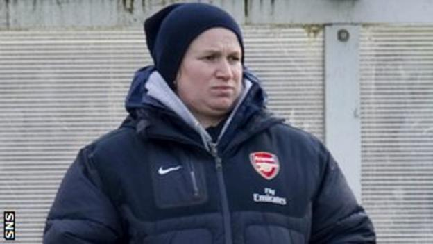 Laura Harvey in her days in charge of Arsenal