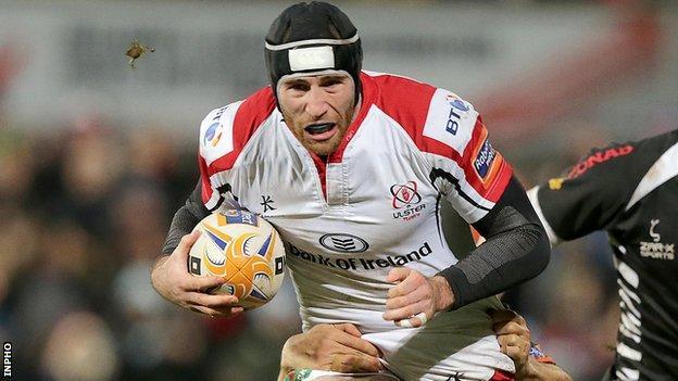 Ricky Andrew in action for Ulster