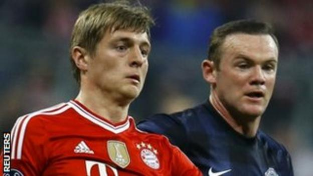 Toni Kroos (left) may be teaming up with Wayne Rooney at Manchester United next season