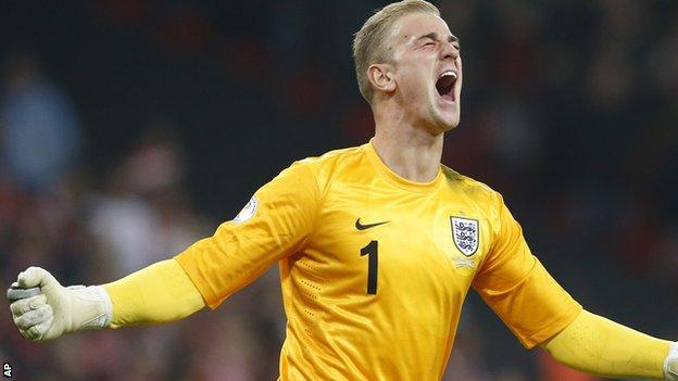 England and Manchester City goalkeeper Joe Hart