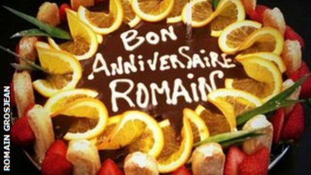 Romain Grosjean birthday cake