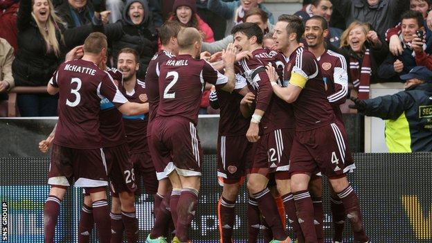 Hearts have been relegated from the Premiership