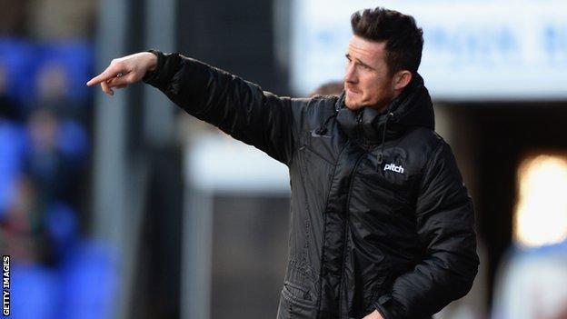 Blackpool player-manager Barry Ferguson