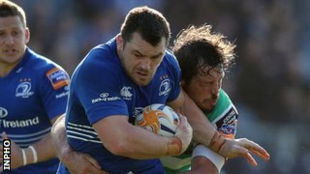 Cian Healy scored one of Leinster's first-half tries