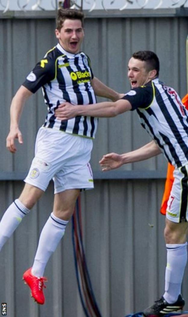 Kenny McLean (left) put St Mirren ahead after 13 seconds