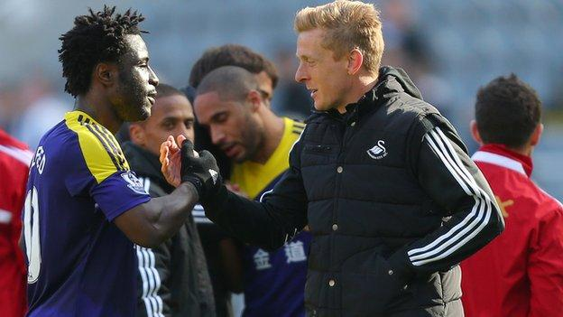Wilfried Bony and Garry Monk