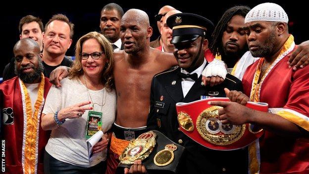 Bernard Hopkins, 49, claims the WBA light-heavyweight crown