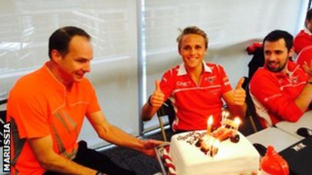 Max Chilton, 23 on Monday, finished a race for 23rd time in succession at the Chinese GP