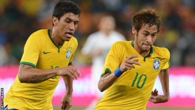 Paulinho and Neymar