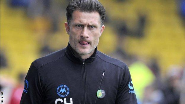 Torquay manager Chris Hargreaves