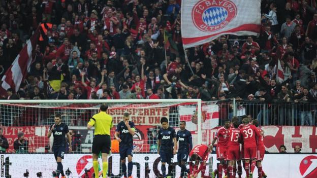 Bayern Munich fans celebrate