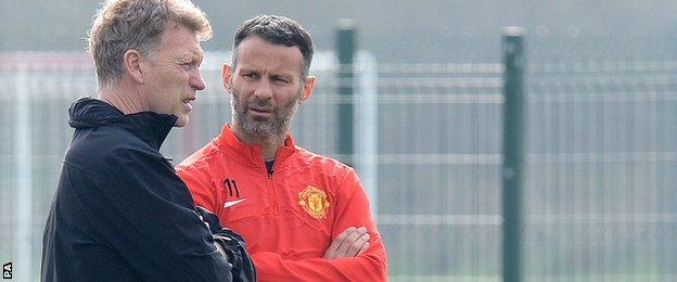 Moyes never won a trophy at Everton - Giggs has won every domestic honour going