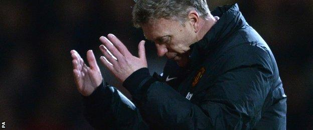 Moyes was at a loss to explain Manchester United's troubles
