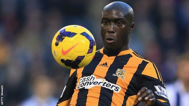Hull City striker Yannick Sagbo