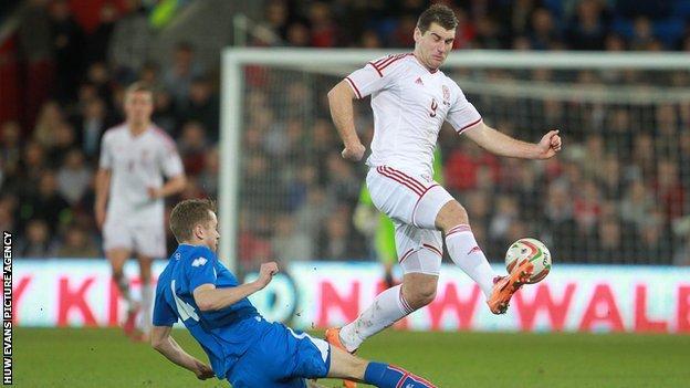 Wales and Burnley striker Sam Vokes