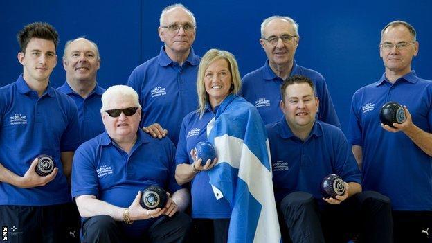 Scotland's Para-Sport bowls team