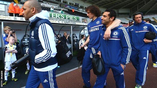 Members of the Chelsea squad