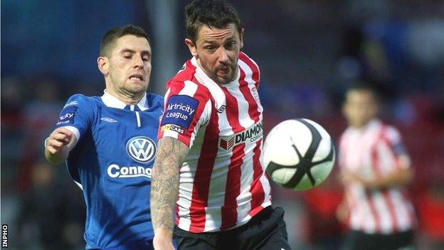 Derry striker Rory Patterson