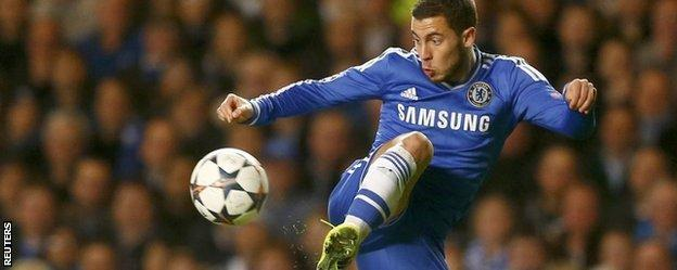 Eden Hazard has missed Chelsea's last two games with a calf injury