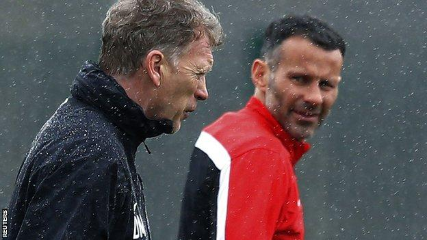Former Manchester United boss David Moyes and temporary replacement Ryan Giggs