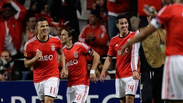 Lima celebrates Benfica's winner