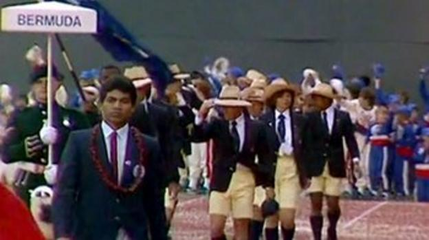 The Bermudian team at the 1986 Commonwealth Games