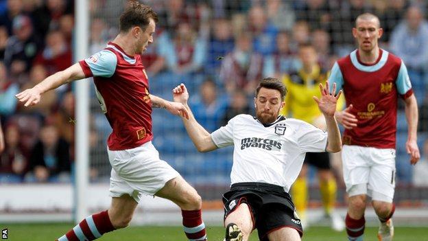 Burnley play Ipswich