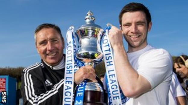Peterhead manager Jim McInally and captain Steven Noble